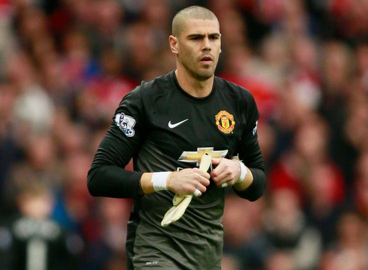 Victor Valdes comes on as a substitute