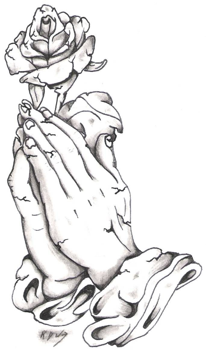 Stone Praying Hands And Rose By Bassplayer39 On Deviantart Praying Hands Tattoo Design Praying Hands Tattoo Praying Hands