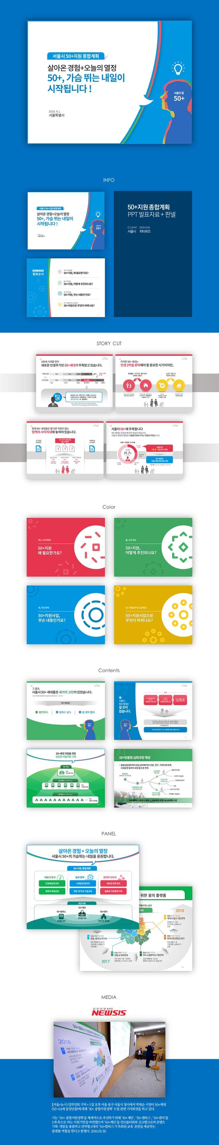 서울시 50+지원 종합계획 Presentation Design by PTWIZ / Client : Seoul City / with PPT