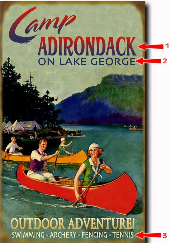 132 best Vintage Adirondack images on Pinterest | Poster ...