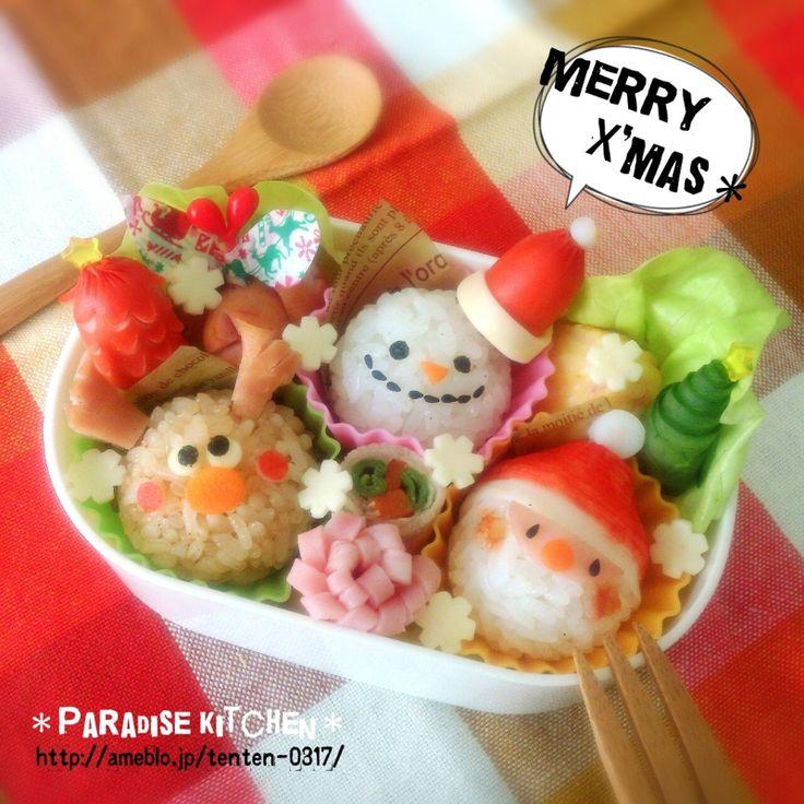 キャラ弁☆ クリスマストリオ弁当 | *Paradise Kitchen*