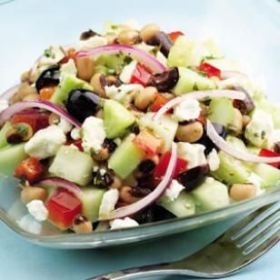 Take this healthy side dish to your next picnic or cookout! Cucumber & Black-Eyed Pea Salad Recipe