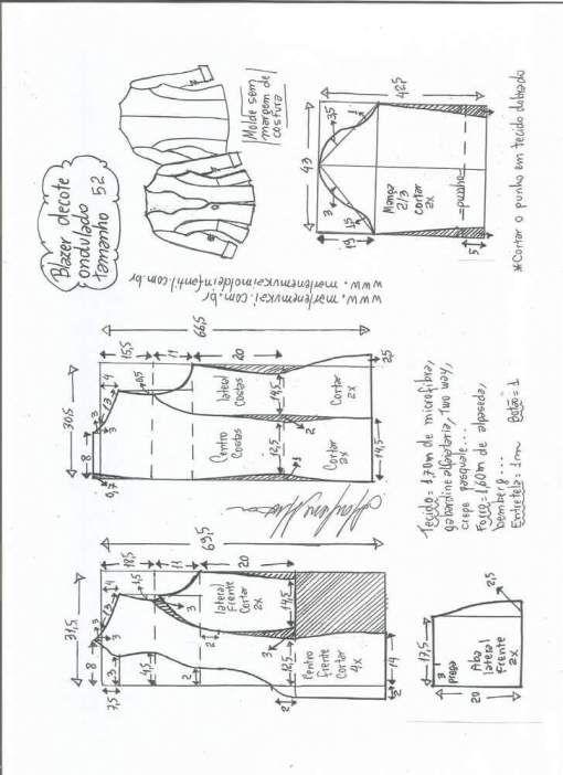 Chaqueta cuello ondulado Patrón para confeccionar una bonita chaqueta ajustada a la cintura con cuello ondulado. Encontraras las tallas desde la 36 hasta la 56. Talla 36: Talla 38: Talla 40: Talla 42: Talla 44: Talla 46: Talla 48: Talla 50: Talla 52: Talla 54: Talla 56: Fuente:http://www.marlenemukai.com.br/ Patrón chaqueta ajustada con hebillaPatrón …