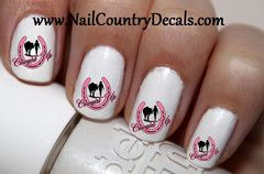 "#summer #deals #fashion #nails #sale #country #hot #coupon code ""PINTEREST"" Saves You 15% On Your Order 50 pc Pink Horse Shoe Cowgirl Up Cowgirl N Horse Nail Decals Nail Art Nail Stickers Best Price NC1116"