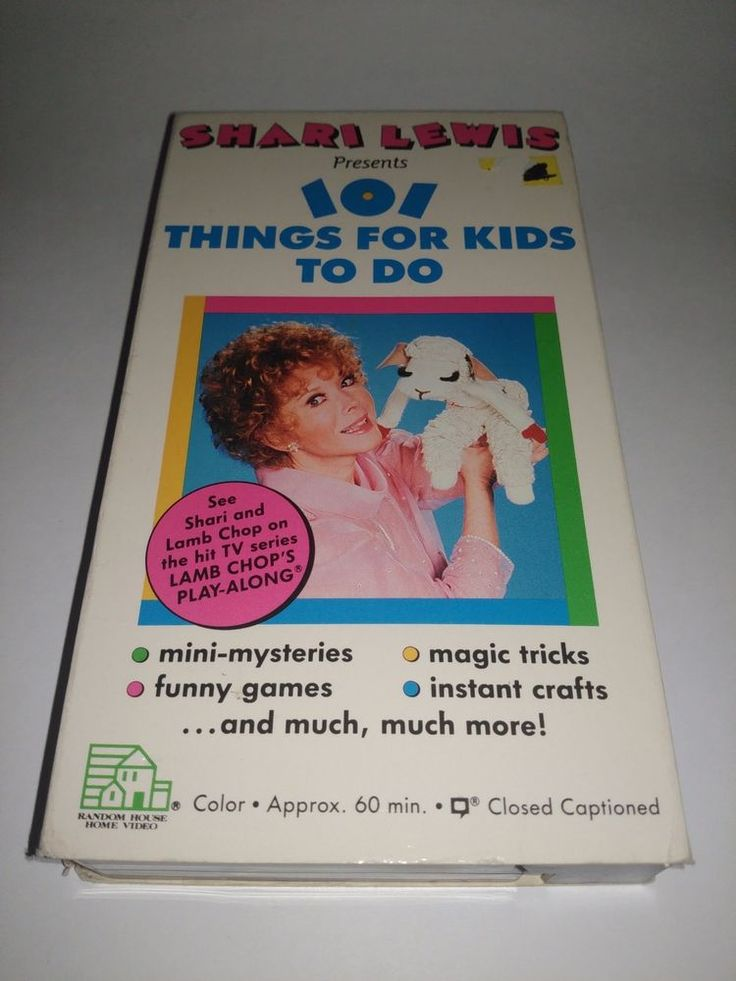 Shari Lewis Presents 101 Things for Kids To Do 1987 VHS Vintage Video Tape