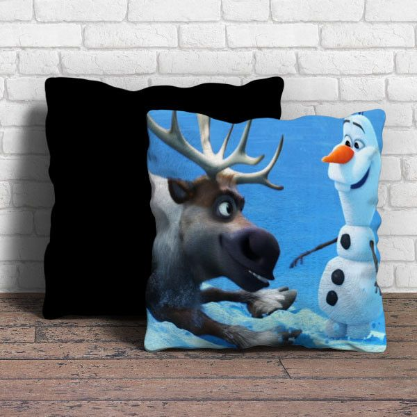Sven and Olaf Funny Cartoon Pillow | Aneend
