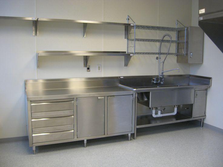 stainless shelves industrial kitchen in 2019 steel kitchen rh pinterest com