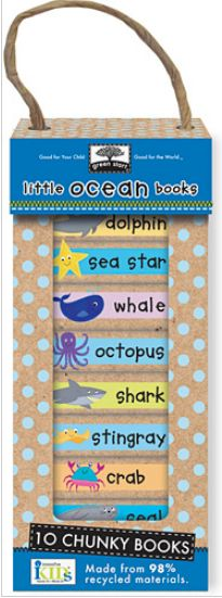 Lesley Breen Withrow: 'Little Ocean Books' - Baby Board book set I illustrated for innovativeKids