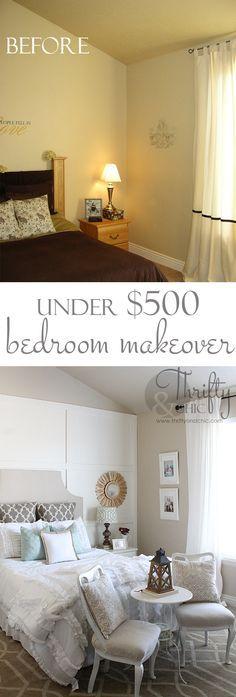Master Bedroom Makeover For Under 500 Great Diy Ideas H O M E Pinterest Bedroom