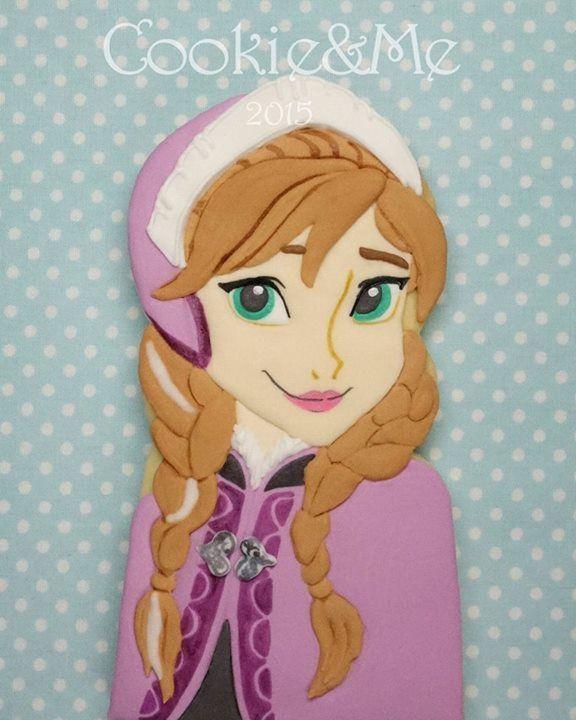 Anna Frozen cookie
