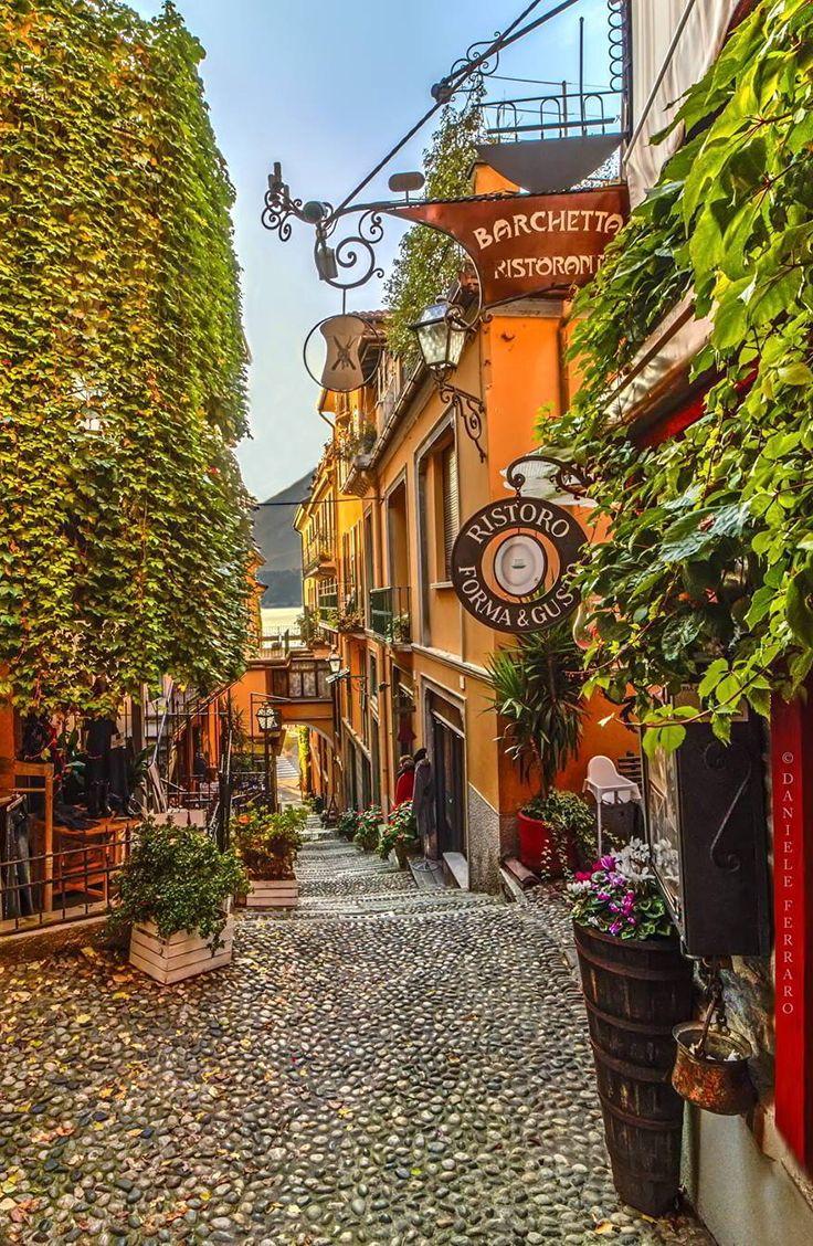 Le famose viuzze caratteristiche del Bellagio sul lago di Como