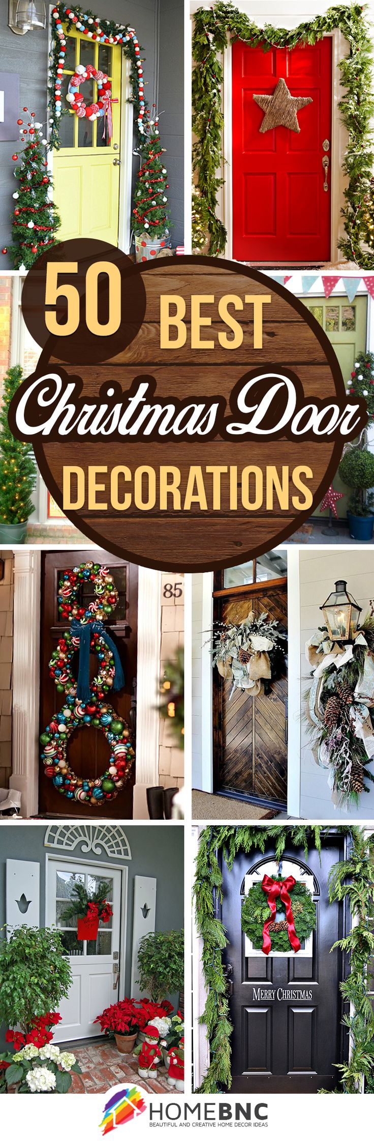 Best 25+ Front door christmas decorations ideas on