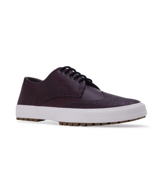 FRED PERRY Men's B5226 Ashton Leather Burgundy