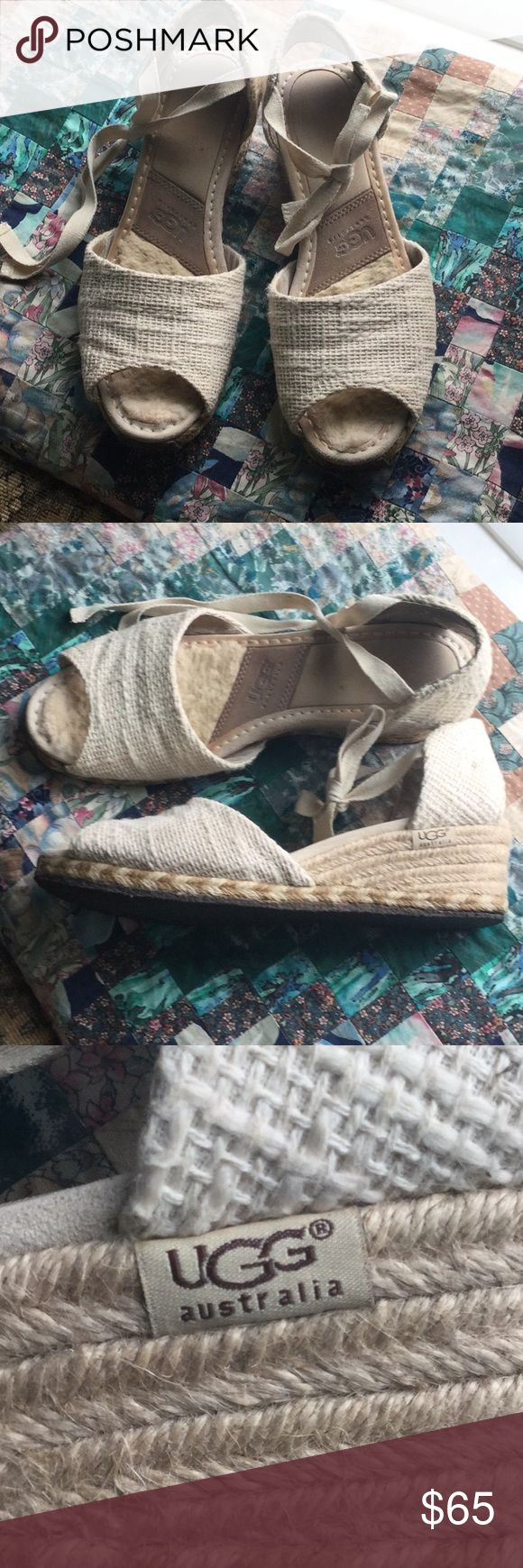 ✴️ UGG espadrilles ✴️ Adorable original UGG espadrilles in great condition. Super cute with jeans, dresses, skirts! Size 9. 2 inch heel. UGG Shoes Espadrilles