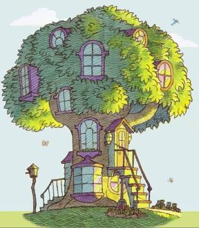 The Bernstein Bear treehouse - i would always read the books and look at this tree house and tell myself i'd make me one of these ONE DAY. that day has yet to come.