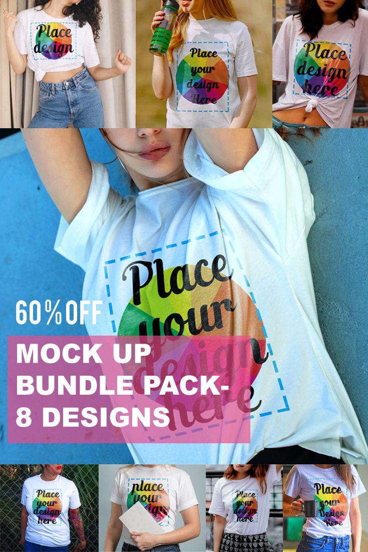 Download T Shirt Mock Up Bundle Of 8 Designs Shirt Mockup Shirts Trending Outfits