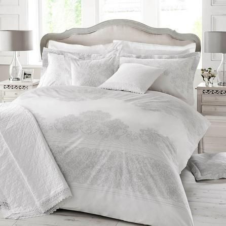 Holly Willoughby Iva Grey Oxford Pillowcase Pair #duvet