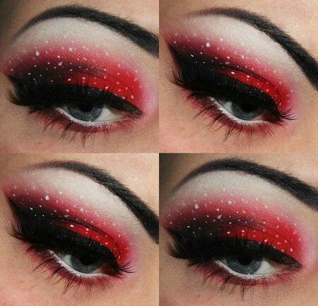 black and red eye makeup ideas red and black eyeshadow