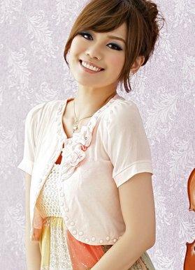Collar Beadswork Chic Ladies Pink Plus Size Cape : Wholesaleclothing4u.com