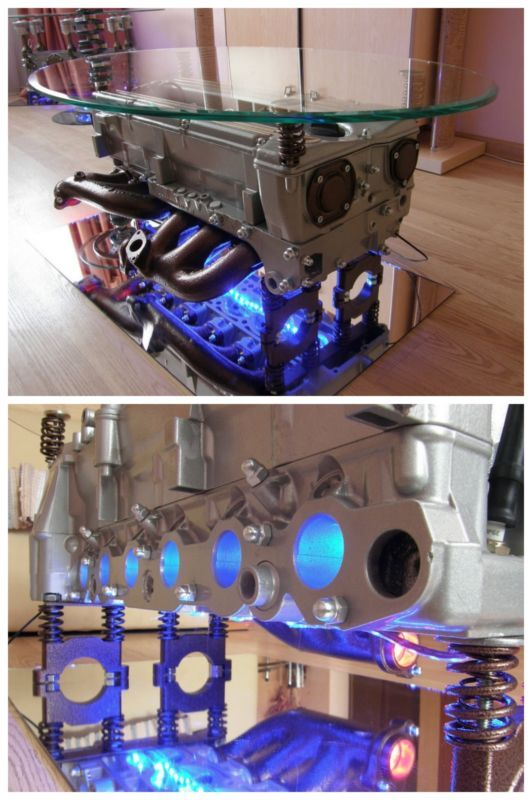 Cool Mercedes-Benz LED Coffee Table. Next level thinking this way! #spon #autoawesome