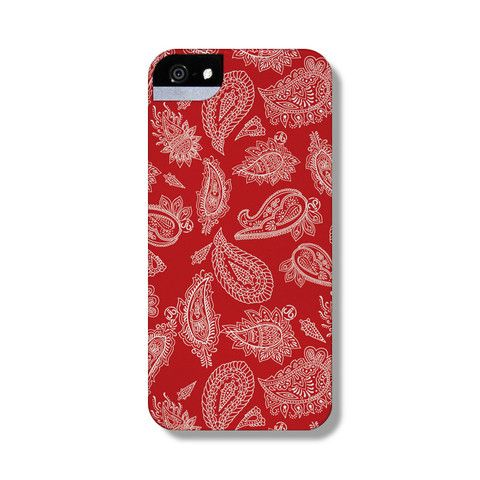 Paisley Red iPhone 5 Case from The Dairy www.thedairy.com #TheDairy