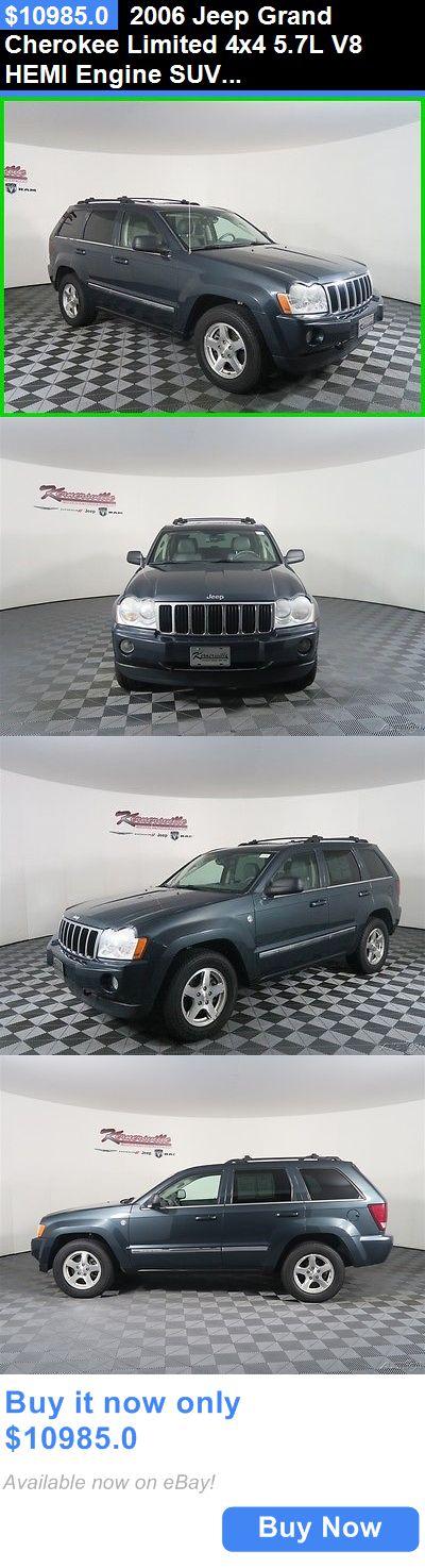 SUVs: 2006 Jeep Grand Cherokee Limited 4X4 5.7L V8 Hemi Engine Suv Sunroof Towing Easy Financing! 136697 Miles Used Blue 2006 Jeep Grand Cherokee Limited Su BUY IT NOW ONLY: $10985.0