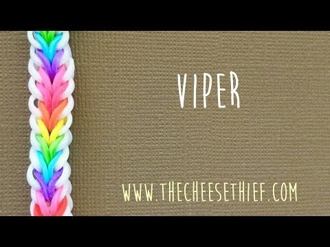 Rainbow loom bands Viper Fish Tutorial by TheCheeseThief - YouTube