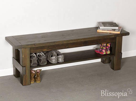 Wood Entryway Storage Bench Shoe Bench Shoe Storage Rustic