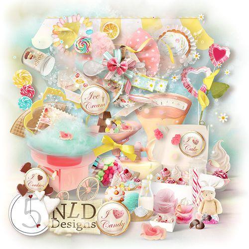 Скрап-набор I Love Candy