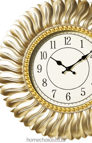 Sharissa wall clock http://www.homechoice.co.za/Decor/Clocks/Sharissa.aspx
