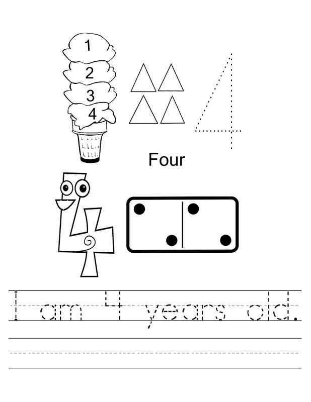 Worksheets For 4 Year Olds Free in 2020 (With images ...
