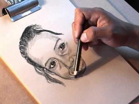 Ejercicios de Dibujo Profesional- Retrato hecho con LÁPIZ DE CARBÓN