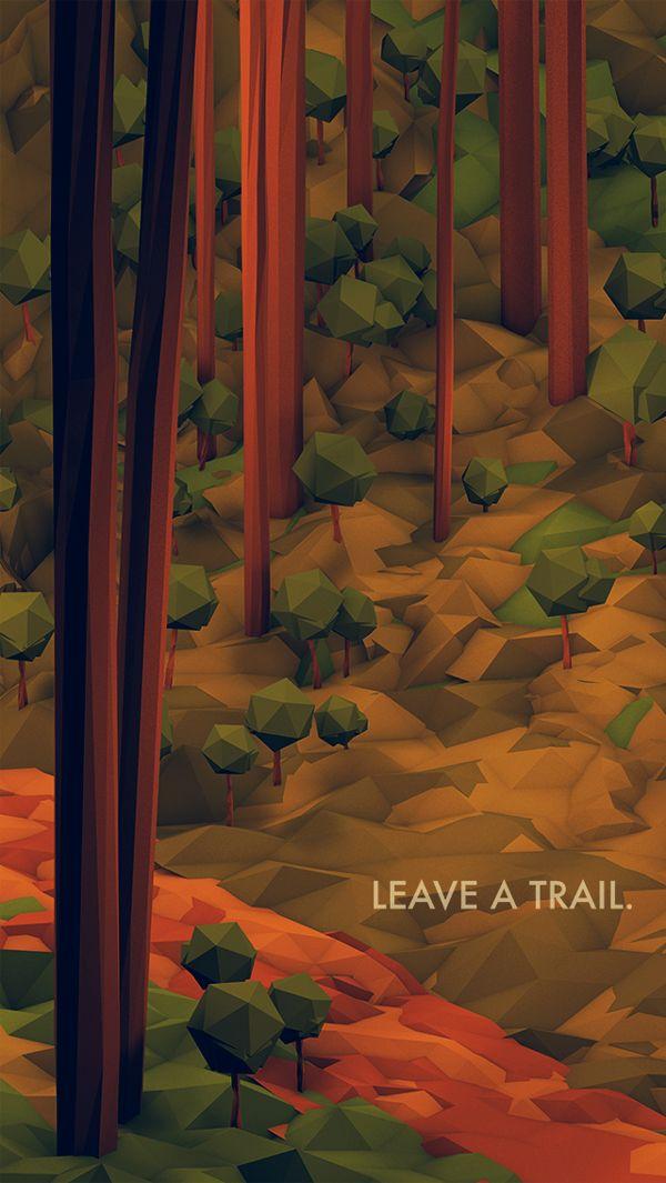 Wander/Days Postcard - Leave A Trail by Timothy J. Reynolds, via Behance