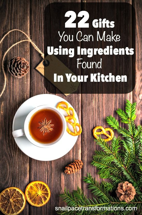 Finish your Christmas list by shopping your kitchen cupboards with this list of simple DIY Christmas gifts.