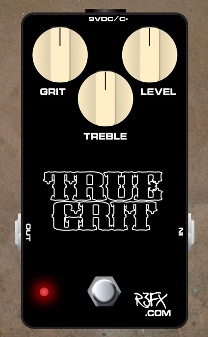 R3FX True Grit Overdrive/Boost  A great overdrive / boost that covers the ground between clean boost / treble boost / low gain / high gain.