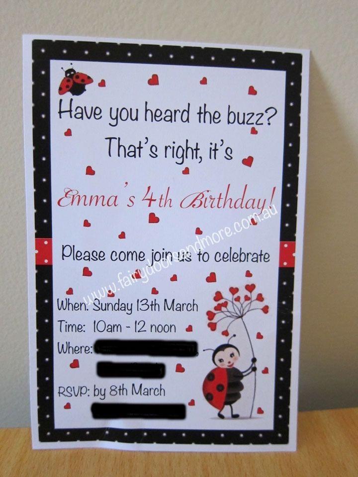 Her cute little invitations.