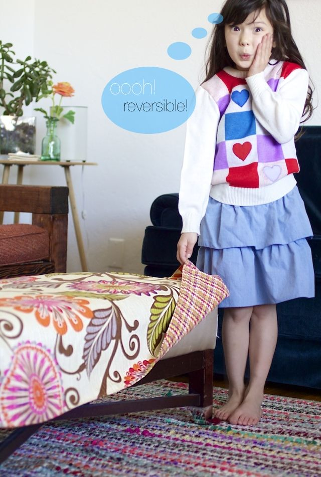 We love this simple ottoman cover tutorial from @Disney  made from @HGTV HOME  fabric!