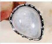 Moonstone 925 Silver Overlay Ring  Size US by AngelicEnchantments, $30.00