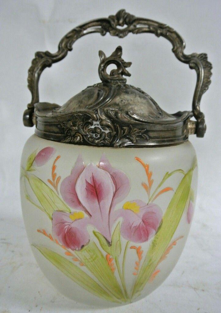 Victorian biscuit jar.