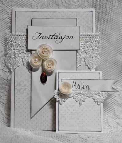 Kort & Godt Galleri: Invitasjon og bordkort til bryllup
