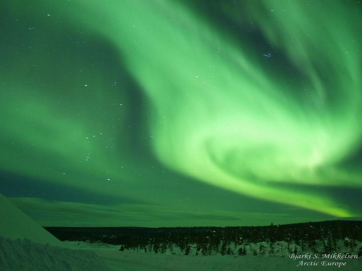 I'll hopefully see the Northern Lights for the first time: Sky, Lapland, Green