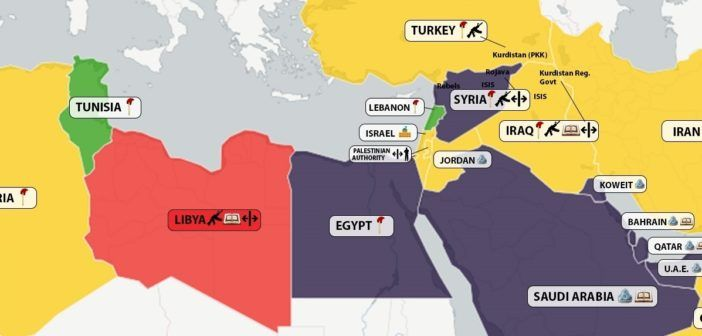 ARAB WORLD MAPS – Democracy in Maghreb and Middle-East