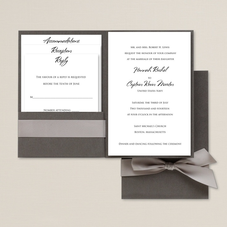 Love Story Wedding Invitation from Exclusively Weddings