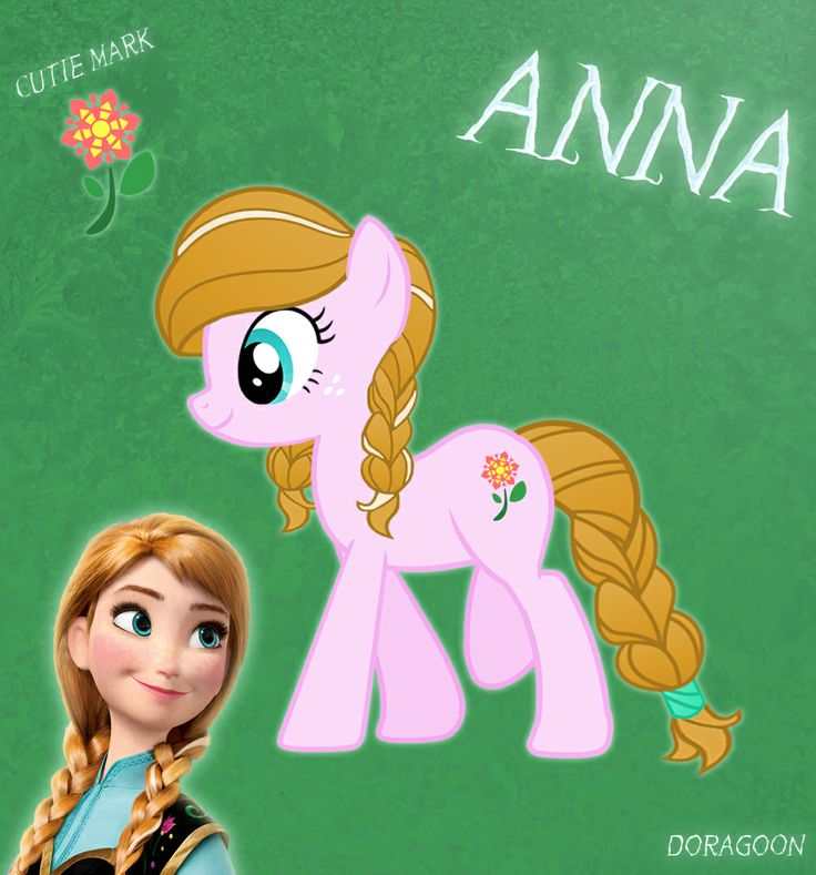 Anna Pony From Frozen (No Cloth) by Doragoon.deviantart.com on @deviantART
