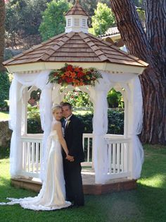 flowers on gazebos for weddings - Google Search