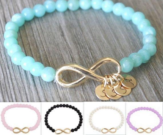 Mothers Day Gift for Grandma, Gift for Mothers, Mothers Bracelet, Grandma Bracelet, Love Gift, Infinity Bracelet, Turquoise Bracelet