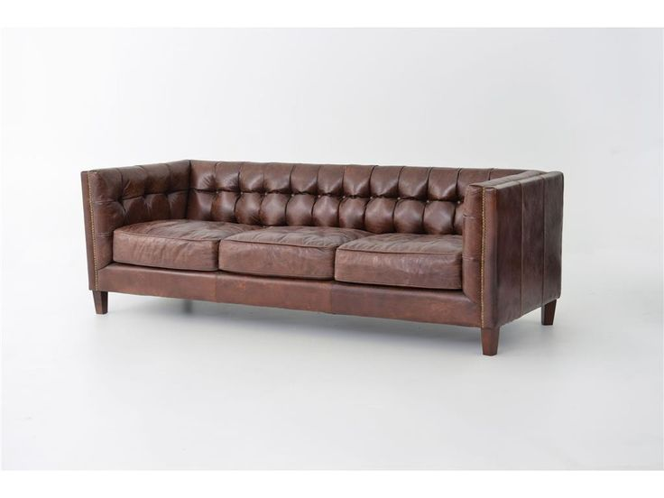 Abbott Leather Sofa In Cigar