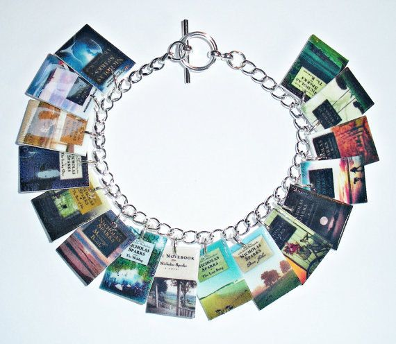 Nicholas Sparks Book Cover Charm Bracelet - The Notebook ...