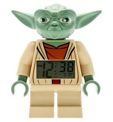 Lego Star Wars Yoda clock 10153573 56 Advantage card points. LEGO Star Wars Yoda clock is great gift for any LEGO Star Wars fan. Features alarm and digital, lit display Collect all of the LEGO Star Wars home decor! FREE Delivery on ord http://www.MightGet.com/april-2017-1/lego-star-wars-yoda-clock-10153573.asp