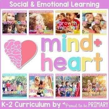 The mind + heart Social Emotional Learning Curriculum includes 8 units with 5+ detailed, character education, research-based LESSONS filled with TONS of hands-on and mindful ACTIVITIES that encourage children to express themselves and build important emotional and social skills.